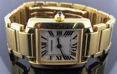 Ferro Jewelers - Watches | CARTIER LADIES 18K TANK FRANCAISE WATCH