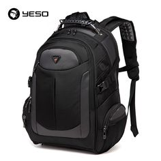 fa8123f7bc69 YESO Brand Laptop Backpack Men s Travel Bags 2017 Fashion Multifunction  Rucksack Waterproof Oxford Black Backpacks For Teenagers