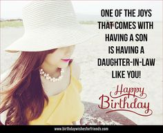 Happy birthday my daughter in law