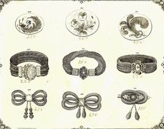 Victorian Mourning jewelry drawings