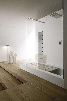 Vasca da bagno in Korakril™ con doccia da incasso UNICO | Vasca da bagno con doccia - Rexa Design