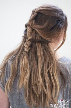 How To Make A Reverse French Braid   Hair  3   Pinterest   Reverse     Franz    sisch Braid Frisuren