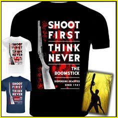 #AshVsEvilDead The #Boomstick Inspired #T-Shirt Screenprinted by #KingBossDesign  http://etsy.me/1VpIy2X via @EtsyScreenprinted by KingBossDesign on Etsy