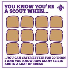 We loved your responses when we asked you how you know you're a Scout! Thanks to Jess Plumtree for this one!