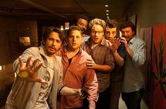 James Franco, Jonah Hill, Craig Robinson, Seth Rogen, Jay Baruchel y Danny McBride en This Is The End