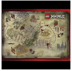 The map of Ninjago from the Pilot Episodes and books.