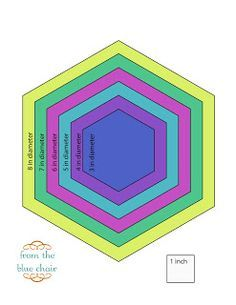 For smaller hexagon templates, feel free to download this pdf from Google Docs