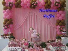 Festa Bonecas de Pano , Marrom e Rosa ,aniversário 1 aninho.