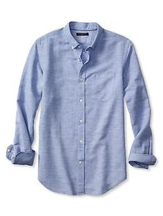 Slim-Fit Linen/Cotton Shirt | Banana Republic