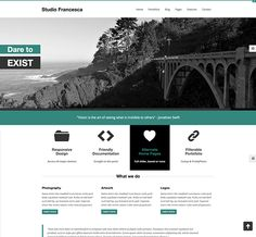 Studio Francesca free HTML5 template preview
