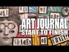 How to: Art Journal Page - Collage Crazy - YouTube