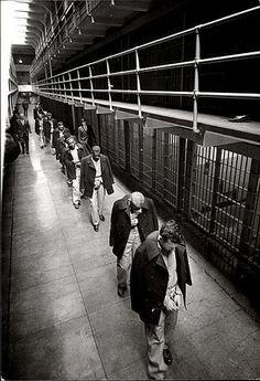 The last prisoners to leave Alcatraz Prison = 1963