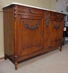 19th Century French Antique Oak Buffet