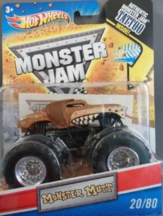 2011 Hot Wheels Monster Jam #20/80 MONSTER MUTT 1:64 Scale Collectible Truck with Monster Jam TATTOO by Mattel. $16.00. 2011 Production Year. 1:64 Scale (Small Truck). Official Monster Jam Truck. Includes Authentic Monster Jam TATTOO. Crush the Competition with this 1:64 scale Hot Wheels truck! Die cast body and chassis mega monster tires & 4-wheel turning action. Let the dirt fly with these ground-poundin Hot Wheels Monster Trucks. Rev up for total domination and des...