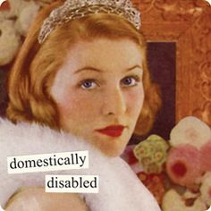 domestically disabled    - Anne Taintor