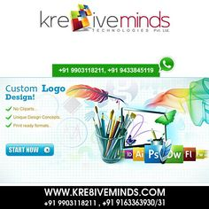 We provide the Kre8ive Logo Design at very affordable Coast Visit Us at: www.kre8iveminds.com Or Call Us at: +91 9903118211