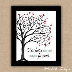 Teachers Plant Seeds That Grow Forever PRINTABLE. Teacher Appreciation. Classroom Decor.