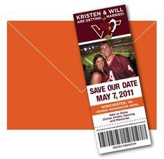 Keg Design: Virginia Tech Save The Date