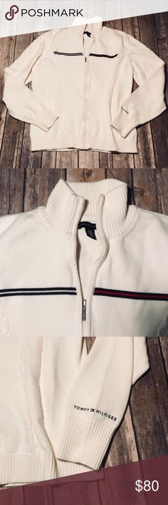 Vintage Tommy Hilfiger Jacket EUC, NWOT. Zips up and is great for layering :) Tommy Hilfiger Sweaters
