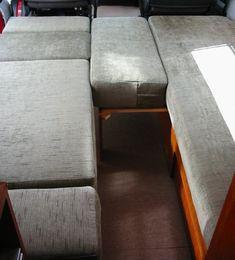making double bed Rv Sofa Bed, Diy Sofa, Camper Furniture, Campervan Bed, Camper Beds, Adjustable Bed Frame, Sofa Bed Design, Pull Out Bed, Memory Foam