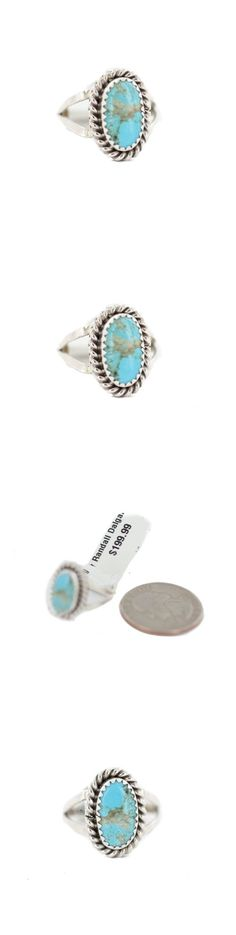Rings 98500: Delicate $200Tag Silver Navajo Natural Turquoise Native American Ring Size 7 1 2 -> BUY IT NOW ONLY: $68.99 on eBay!