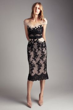 Collette Dinnigan Spring/Summer 2012 Mirabella French Applique Lace and Tulle Dress.