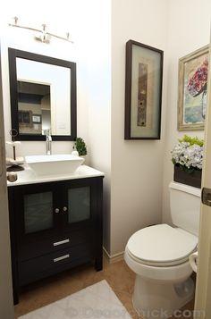 Powder Bathroom Makeover | www.decorchick.com
