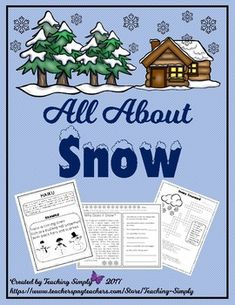 Winter Thematic Unit All About Snow Writing Poetry, Writing Paper, Writing Prompts, Snow Theme, Winter Theme, Teaching Activities, Winter Activities, Reading Passages, Reading Comprehension