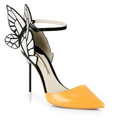 "Sophia Webster ""Clara"" patent leather butterfly d'orsay pump from spring 2014 collection."