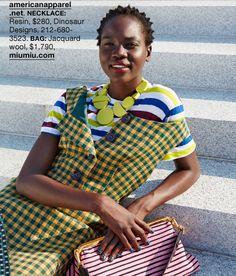 Model Atong Arjok Photos: Martien Mulder Styling: Katyryn Neale Screen Shots: The Blog Owner