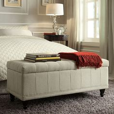 Add some additional storage to your bedroom.