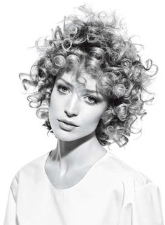curly hair...i just really love this. if i cut my hair short like that id have a white gurl fro tho! LOL
