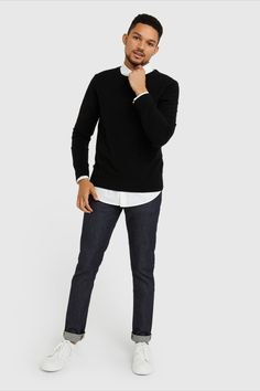 A timeless staple. Our cashmere crew features 100% Grade A Mongolian cashmere. A versatile classic, it can easily be worn when you need to look your best, and worn casually with a pair of jeans or around the house. It'll soon become a part of your everyday uniform. Cashmere Sweater Men, Men Sweater, Night Photography, Scenic Photography, Landscape Photography, Traditional Dresses, Best Sellers, That Look, Normcore