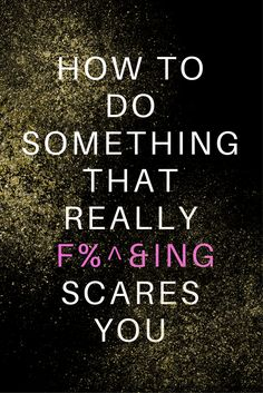 A guide to getting brave and to help you overcome fear. This is a collection of ideas to help you face things that really freaking scare you.