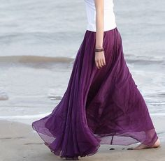 Purple Chiffon skirt Maxi Skirt Long Skirt Maxi by lsmartmiss, $30.80  https://www.etsy.com/listing/188709578/purple-chiffon-skirt-maxi-skirt-long?ref=sr_gallery_24&ga_order=date_desc&ga_view_type=gallery&ga_page=17&ga_search_type=all
