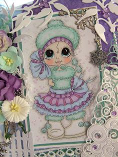 Besties close-up by Julie Gleeson... see her pretty card in her blog post