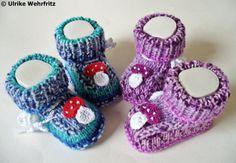 Babyschuhe Zwillinge von stricklienes lädchen auf DaWanda.com