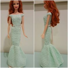 This hub is a free crochet pattern for Barbie Off Shoulder Mermaid Gown.