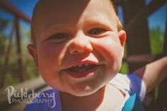 1st Birthday 1 year old photo Session. Wide angle lens shot close up. Fisheye. Extra fun. Pickleberry Photography