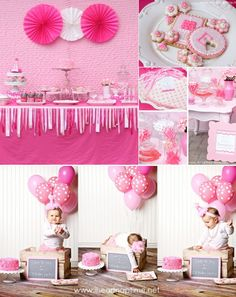 Pretty in Pink 1st birthday party full of ideas via Kara's Party Ideas KarasPartyIdeas.com