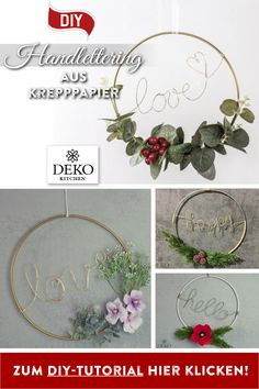 DIY: hand lettering decoration to hang! So you can with paper wire and metal . - Wall design ideas - DIY: hand lettering decoration to hang! So you can DIY with paper wire and metal: hand lettering de - Diy Jewelry Rings, Diy Jewelry Unique, Diy Jewelry To Sell, Diy Jewelry Holder, Diy Jewelry Tutorials, Diy Jewelry Making, Jewelry Necklaces, Crafts To Make And Sell, Diy Crafts For Kids