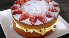 Natvia Sponge Cake with Passion Fruit and Cream - Sweeter Life Club