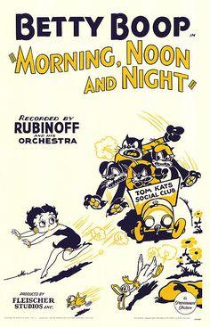 1930s Cartoons, Classic Cartoons, Cinema Posters, Movie Posters, Retro Graphic Design, Comics Kingdom, Betty Boop Cartoon, Title Card, Vintage Cartoon