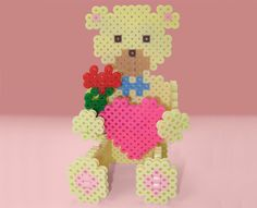 Have fun creating this 3-D Sweetheart Bear for your sweetheart, your mom, or your grandmother. It's easy to put together with simple tab and slot assembly.