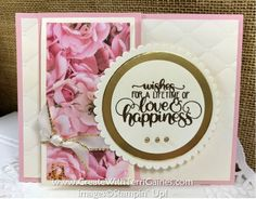 Petal Promenade Designer Series Paper & Dandelion Wishes Stamp Set - Create With Terri Gaines Fun Fold Cards, Love Cards, Card Making Tutorials, Making Ideas, Wedding Cards Handmade, Dandelion Wish, Stampin Up Catalog, Wedding Anniversary Cards, Stamping Up Cards
