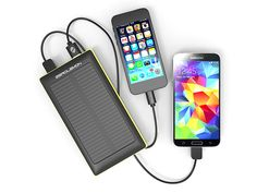 ZeroLemon Solar Charge External Battery (20,000mAh): Charge Anywhere There's Light w/ The Rain-Resistant Portable Power Bank