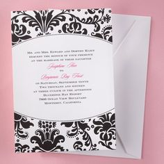 Bold in Black and White - #Invitation weddingneeds.carlsoncraft.com