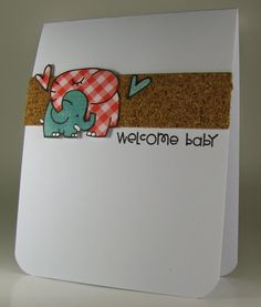 Stempel Spass: Baby Card