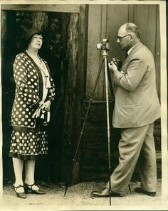 Dr. Erich Salomon  Photographing Mrs. Green  1930