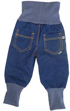 Baggy-Jeans mit langen Bündchen für Krabbelkinder nähen